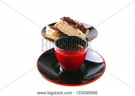 roast turkish coffee and lemon cake with chocolate