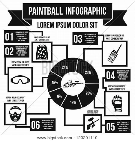 Paintball infographic, simple style