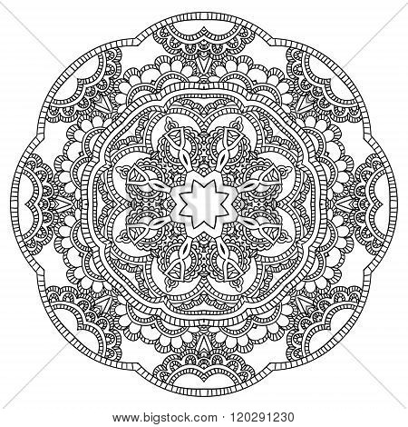 Mandala. Round Ornament