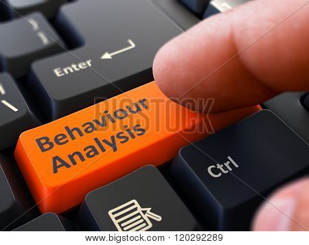 Behaviour Analysis - Concept on Orange Keyboard Button.