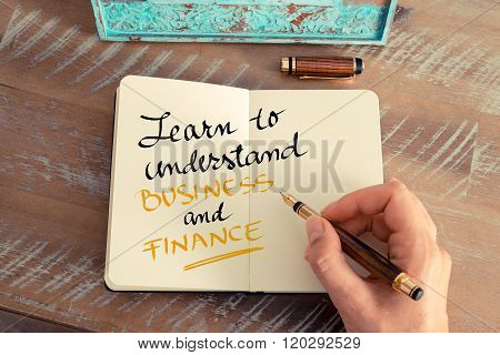 Text Learn To Understand Business And Finance