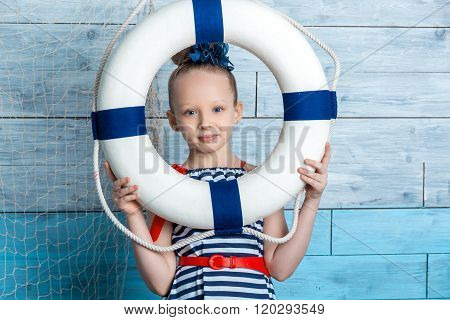 child looking through a lifeline