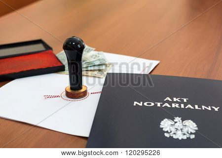 Notarial Act Signed By The Notary