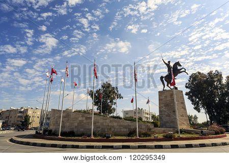 Ataturk Statue In Turkish City Close To Nicosia, Cyprus