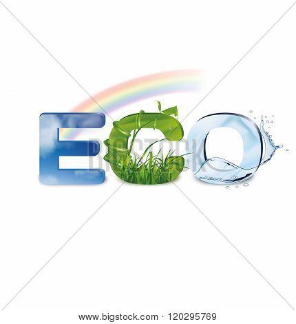 Ecology. Eco-icon. Vector Illustration