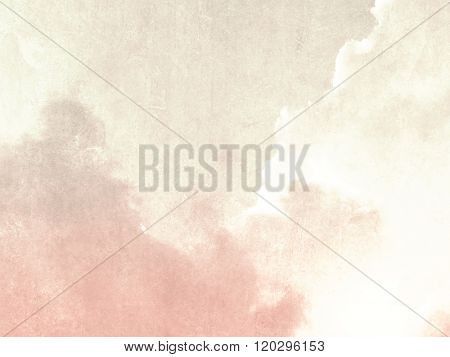 Soft sky background beige pink in faded vintage style