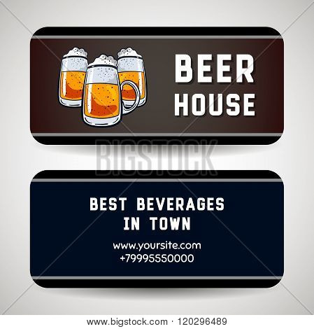 Business Card For Beer House