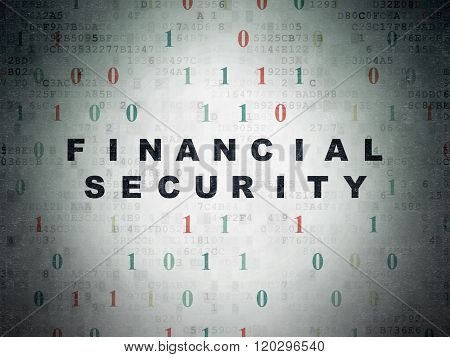 Security concept: Financial Security on Digital Paper background