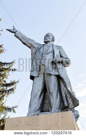 Monument to Vladimir Lenin. Usman. Russia