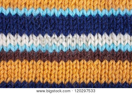Stropped Knitted Background