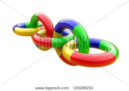 Tree-dimensional Chain Of Plastic Rings