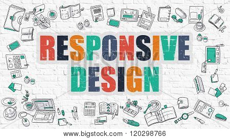 Responsive Design in Multicolor. Doodle Design.