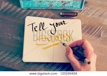 Handwritten Text Tell Your Story