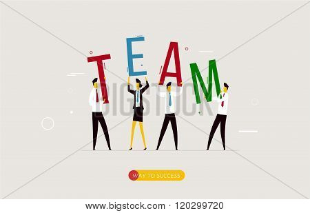 Business team holding a decision letter