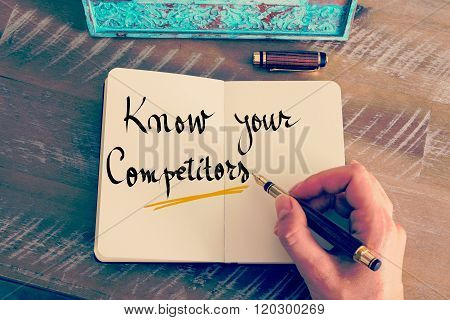 Handwritten Text Know Your Competitors
