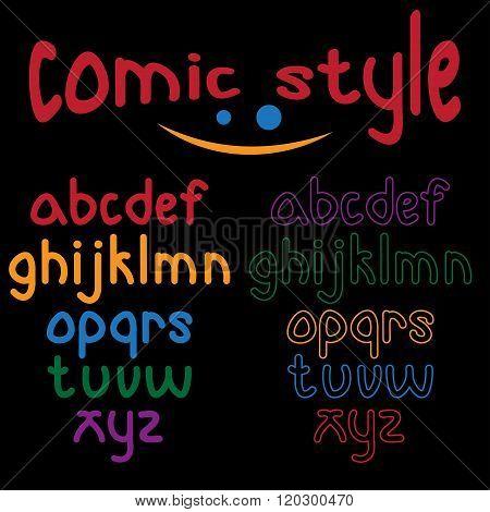 Lowercase Comic Style Alphabet