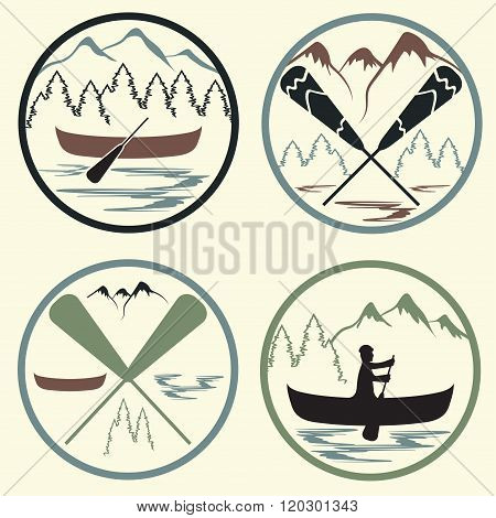 Canoe Camp Vintage Labels Set