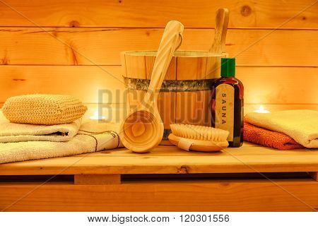 Sauna accessories Still life