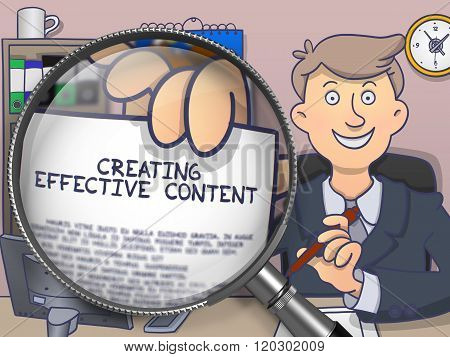 Creating Effective Content through Magnifying Glass.