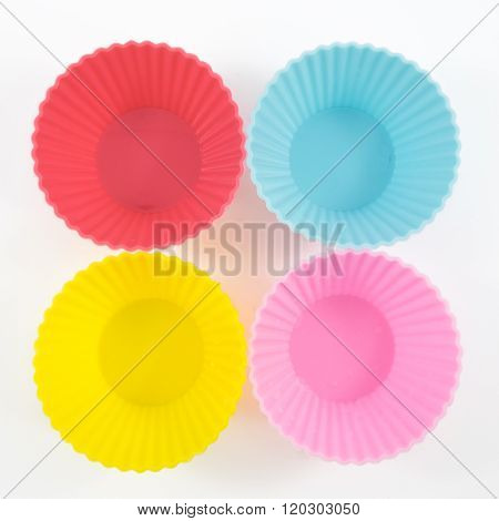 The four of silicone baking cups