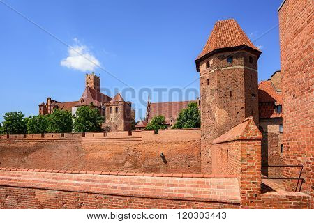 The Teutonic Knights Order Castle In Malbork, Poland