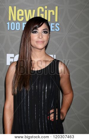 LOS ANGELES - MAR 3:  Hannah Simone at the New Girl 100th Episode Party at the W Westwood on March 3, 2016 in Westwood, CA