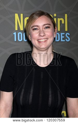 LOS ANGELES - MAR 3:  Elizabeth Meriwether at the New Girl 100th Episode Party at the W Westwood on March 3, 2016 in Westwood, CA