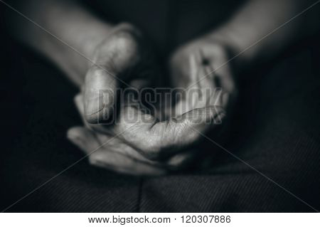Two Old Man's Hands