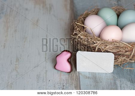 Easter Eggs In Pastel