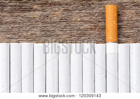 Cigarette Addiction Concept.