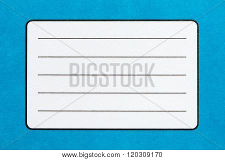 Name Label Of Blue Exercise Book