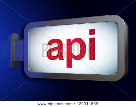 Programming concept: Api on billboard background