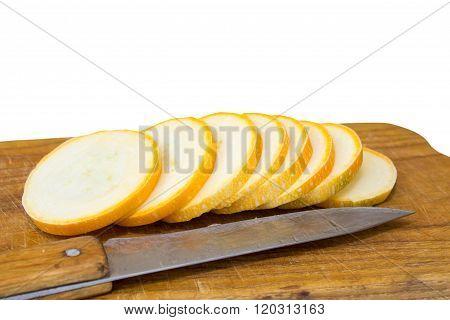 Sliced Yellow Zucchini