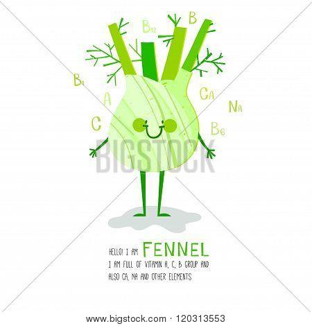 cartoon style vegetable