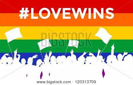 Lovewins LGBT Cheering Crowd