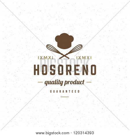 Restaurant Logo Template. Vector Design Element Vintage Style for Logotype