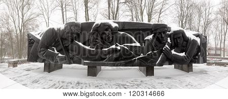 Gomel / Belarus - 27 January 2016: a memorial to the heroes of the liberators. Lunacharsky Park