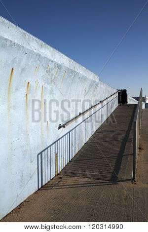 Ramp Along The Sea Wall, Canvey Island, Essex, England