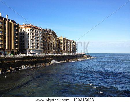 San Sebastian coastline, Basque country, Spain