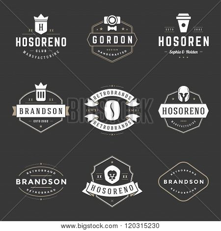 Vintage Logos Design Templates Set. Vector design elements, Logo Elements