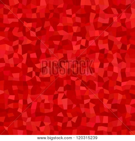 Red color irregular rectangle mosaic background