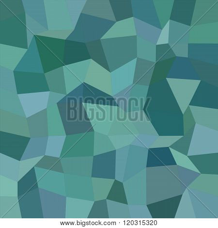 Teal color irregular rectangle mosaic background