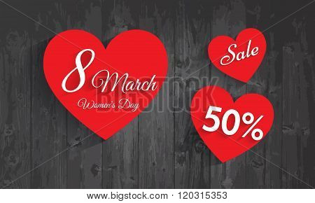 Women's Day Celebration Poster, Banner Or Flyer Design Of Sale With 50% Discount Offer