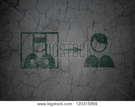Law concept: Criminal Freed on grunge wall background