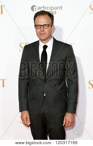 NEW YORK-OCT 27: Director/actor Thomas McCarthy  attends the 'Spotlight' New York premiere at Ziegfeld Theatre on October 27, 2015 in New York City.
