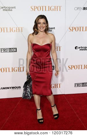 NEW YORK-OCT 27: Actress Laura Michelle Kelly attends the 'Spotlight' New York premiere at Ziegfeld Theatre on October 27, 2015 in New York City.