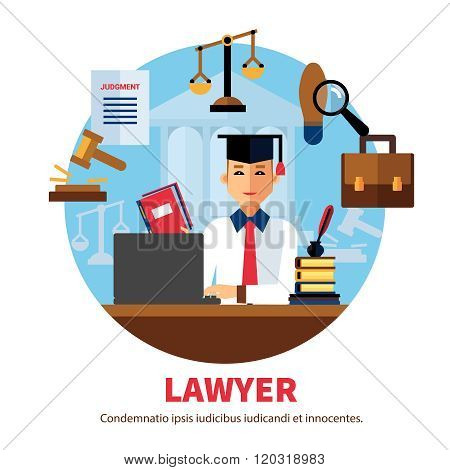 Lawyer Jurist Legal Expert Illustration