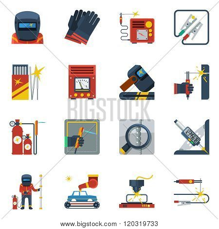 Welding Flat Color Icons