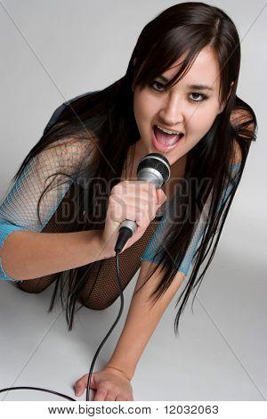 Singing Asian Woman