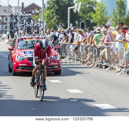 The Cyclist Nicolas Edet - Tour De France 2015